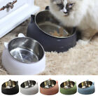Cat Raised Bowl No-slip Stainless Steel Protect The Cervical Spine Feeder Bowls