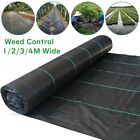 100gsm Heavy Duty Weed Control Fabric Membrane Garden Ground Cover Mat Mulch UK