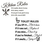 Kitchen Rules Quotes/words Mural Sticker Home Decoration Picture Wall Stickers