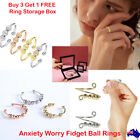 Anxiety Worry Fidget Ball Ring Meditation Spinner Ring Adjustable Opening Au