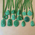 Fashion Natural Jade Necklace Pendant Hand-carved Lucky Amulet Men Women Jewelry