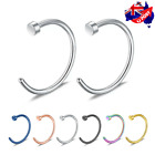 2pcs Surgical Steel Unisex Small Fake Nose Ring Lip Ear Nose Body Piercing Stud