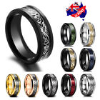 Titanium Stainless Steel 8mm Celtic Dragon Band Ring Men Women Jewelry Size 5-13