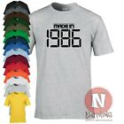 MADE IN 1986 birthday celebration fancy dress T-shirt