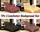 NEW DOUBLE KING BED COMFORTER/ BED SPREAD SET 7-PCS ALL