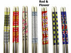 5 Pairs Chinese / Japanese Stainless Steel Chopsticks JW