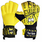 Zoop Pro Roll Flat Finger Saver Goalkeeper Goalie Gloves Adult Sizes 8/9/10.
