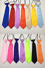 New Satin Child Kid Boy School Elastic Neck Tie GIFT