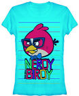ANGRY BIRDS T-Shirt Tee NEW Nerdy Birdy (JUNIOR) blue