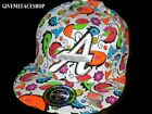 GLOW FLAT PEAK FITTED CAP HAT, GLOW IN THE DARK HIP HOP