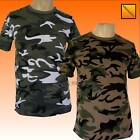 Army Combat Camouflage Camo T Shirt New