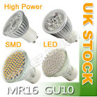 6 x GU10 48 SMD LED DAY/WARM WHITE = 35W Bulbs UK New