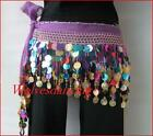 SHINING Multicolor Sequins Belly Dance Scarf 10 Colors