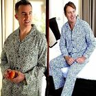 CHAMPION PAISLEY Mens Cotton PYJAMAS * PJ's * PAJAMAS Set (Blue, Green or Brown)