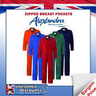 UK MADE BOILERSUIT COVERALL OVERALL WORKWEAR 245GSM ZIPPED BREAST POCKETS OFFER