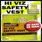 MOUNTAIN BIKE CYCLE HI VIZ CYCLE VEST BE SAFE & SEEN SAFETY REFLECTOR YELLOW
