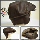 NEW VINTAGE STYLE SNAP BUTTON EARFLAP SUEDE COLD PROOF NEWSBOY CABBIE HAT BROWN