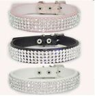 Croc Dog Cat Crystal diamond collar dog collar pu leash