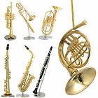 Decorative Miniature Instrument Ornamental Figurines ~ Horn, Saxophone, Clarinet