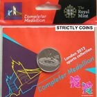 COMPLETER MEDALLION Medal Royal Mint 2012 OLYMPIC 50P COIN SPORTS COLLECTION