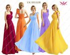 One Shoulder Chiffon Evening Bridesmaid Dress Purple UK size 8 - 20