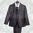 5 pcs Formal Suit Wedding Page Boy Christening Outfit Dinner Age 1-6 Years 018B