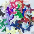 25 satin bows 30mm x 25mm red blue pink white yellow silver peach
