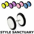 Fake Acrylic Flesh Plug Earring Glow in the Dark Ear Stretcher 8mm Piercing NEW