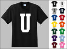 Capital Letter U Alphabet T-Shirt