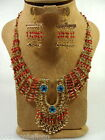 Belly Dance evil eye and horse shoe necklace & earrings set egyptian hand made