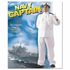 Gents Navy Captain Fancy Dress Costume. Mens stag party Outfit,officer,sailor