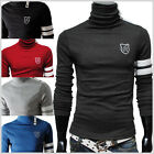 (TRP) THELEES Mens casual button turtle neck slim pullover tshirts