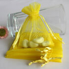 "100 Strong Sheer Organza Pouch 3x3.5"" 7x9cm Wedding Favor Gift Candy Bag Colors"