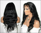 lace front wigs-indian remy human hair-natural color-natura straight /wavy hair