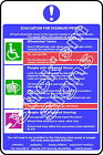 Evacuation for disabled people DDA0026 Disabled stickers & signs
