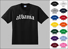 Country Albania of Old English Font Vintage Style Letters T-shirt
