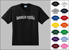 Country of Dominican Republic Old English Font Vintage Style Letters T-shirt