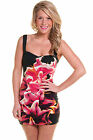 NEW MOTEL LESLEY BODYCON DRESS IN BIG LILY RED AVAILABLE IN SIZES XS/S/M/L