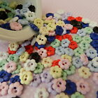 10 Tiny daisy flower buttons lots of  colours 10 mm diameter
