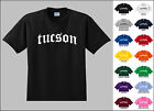 City of Tuscon Old English Font Vintage Style Letters T-shirt