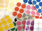 25mm Round Plastic Vinyl Colour Code dot Stickers Coloured Circle Sticky Labels