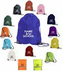 PERSONALISED SCHOOL BAG GIRLS BOYS NYLON PE GYM SWIMMING PLAYGROUP NURSERY