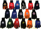 NWT MLB No Slip Utility Work Gloves With 3D Team Logo Baseball FREE SHIPPING NEW on Ebay