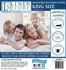 MICROFIBER ZIPPERED MATTRESS COVER, BED BUG PROTECTOR, HYPOALLERGENIC, KING image