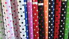 Spotted polka dot polycotton fabric material sold per metre by hmtextiles