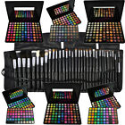88 96 120 Lidschatten Palette + 16 24 32 40 Pinsel Set Kosmetik Make EYESHADOW