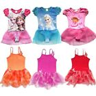 Girls Frozen Princess Elsa Anna Dora Leotard Ballet Tutu Dance Skirt Dress 3-8Y