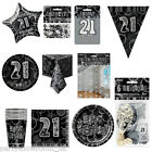 Black Silver 21st Birthday Party Items Decorations One Listing PS