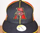 NEW ERA BASEBALL FLAT PEAK CAP, 5950 FITTED HATS, ATLANTA HAWKS 59FIFTY BRIM