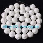 14MM 12MM 10MM ROUND WAVY WHITE SHELL MOP GEMSTONE BEADS STRAND 15""
